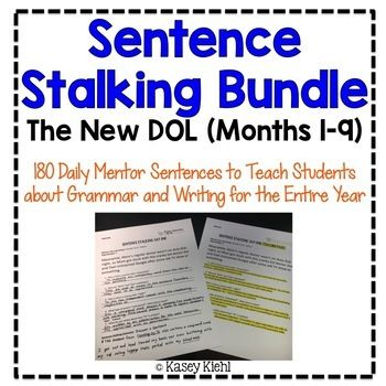 Daily Oral Language DOL BUNDLE Aligned To The 5th Grade