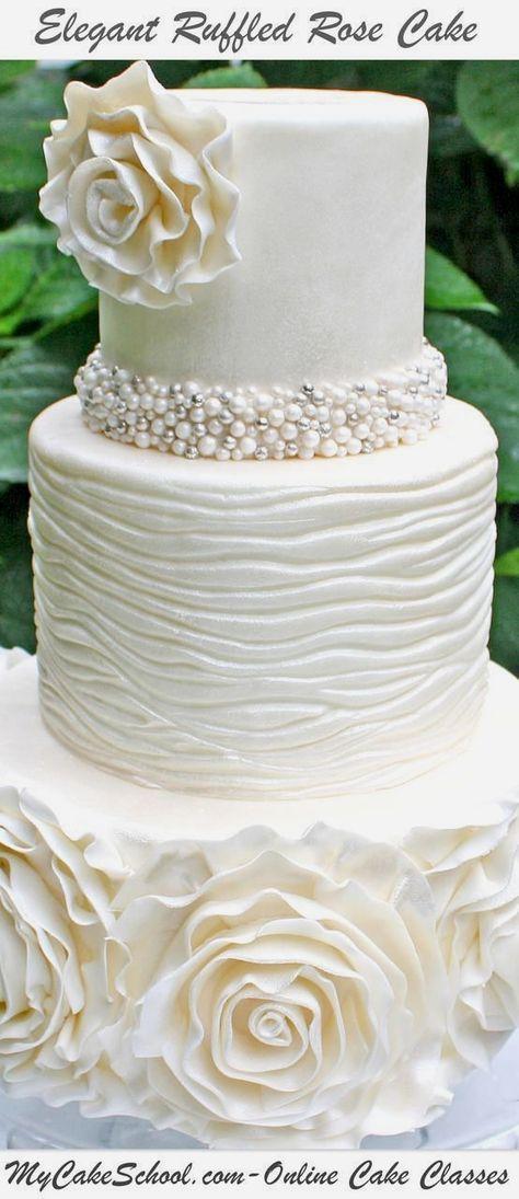 bakery shop near me #weddingcakedecorating Rose cake tutorial, Fondant ruffles, Rose cake