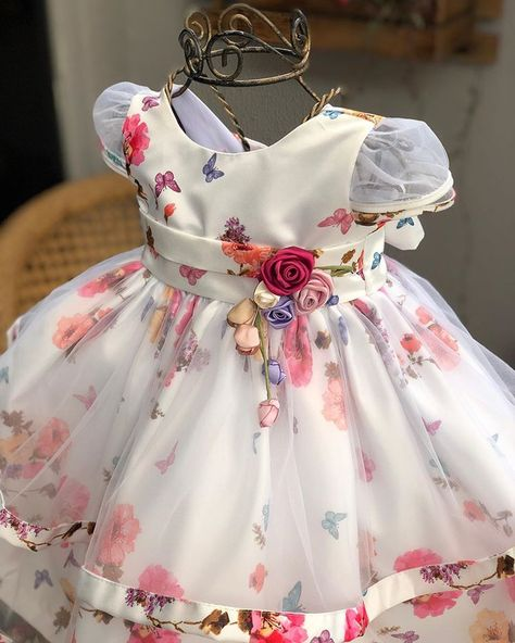 US STOCK Flower Girls Dress Embroidered Butterfly Party Birthday Dresses O109