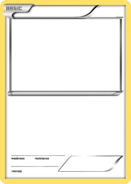 Blank Pokemon Card Trading Card Template Pokemon Card Template