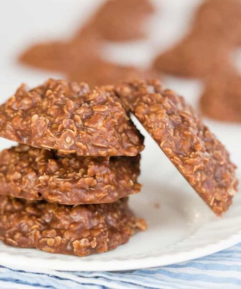 No Bake Chocolate Peanut Butter And Oatmeal Cookies Receta