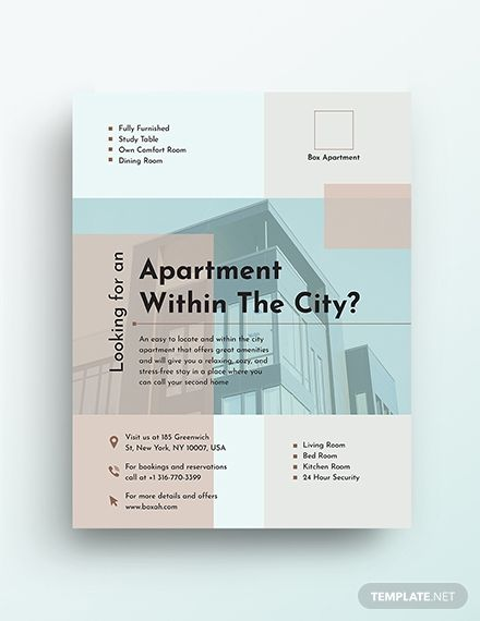 Apartment Flyer Template Flyer Template Real Estate Flyer Template Flyer