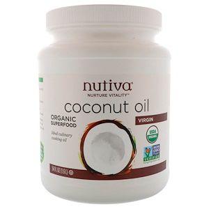 Nutiva Organic Virgin Coconut Oil 54 Fl Oz 1 6 L Iherb Com Healthy Cooking Oils Organic Virgin Coconut Oil Nutiva Coconut Oil