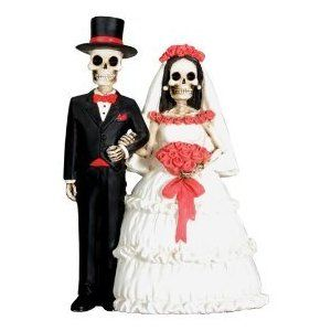 Day of the Dead Wedding Bride and Groom