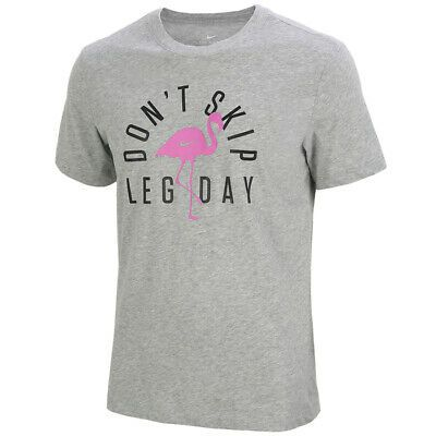 Details About Nike Dri Fit Dfct Don T Skip Leg Day Short Sleeve T Shirts Gray Cq6565 063 In 2020 Dont Skip Leg Day Shirts Grey Legs Day