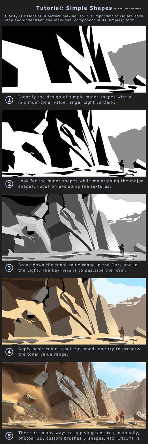Tutorial: Simple Shapes by Takumer.deviantart.com on @DeviantArt: