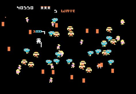 Game Review Atari Robotron 2084 For Atari 7800 Rivals Other Platform Releases Game Reviews Retro Gaming Video Game News
