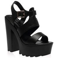 fcbdc9eb0 Buy Lori Black Cleated Heeled Sandal £14.99 from Women s Sandals range at…