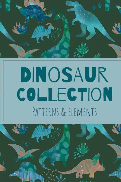DINOSAUR watercolor pattern