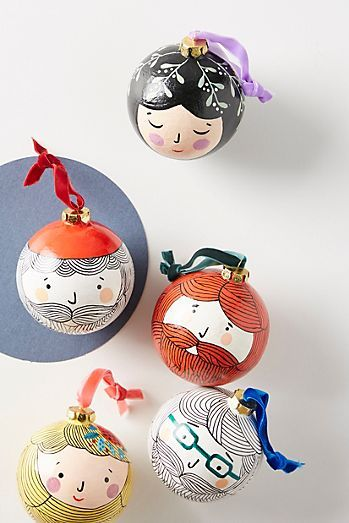 Handmade Christmas bauble ornament Noel design tree decoration