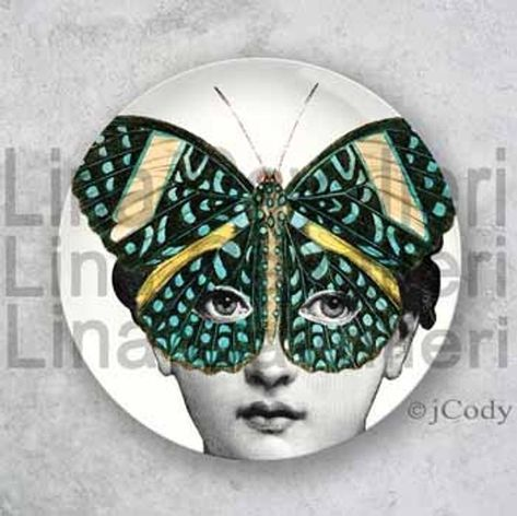 mask Original Designs, Original Melamine Plates with a Fornasetti Theme