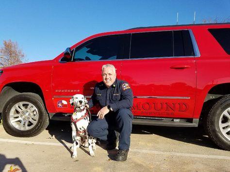 dallasdogs Tiller and his fire chief dad...