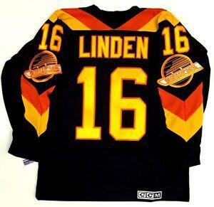 Trevor Linden Vancouver Canucks Ccm Vintage Jersey New Vancouver Canucks Canucks Vancouver
