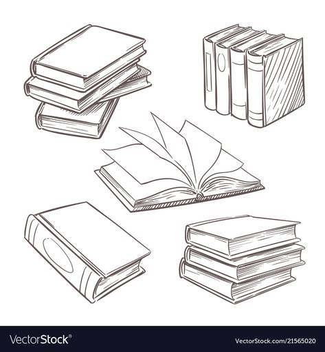 Free tutorials for bullet journal doodles to teach you how to draw a book standing up, an open book, a stack or pile of books, a bookshelf and more. Bullet Journal Ideas Pages, Bullet Journal Inspo, Book Journal, Book Drawing, Drawing Tips, Drawing Reference, Easy Drawings, Tattoo Drawings, Drop Cap
