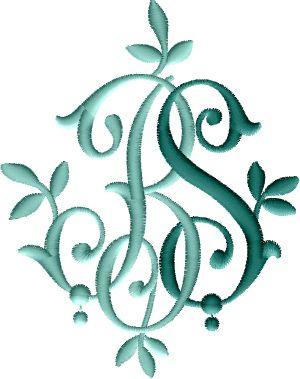 Bs Monogram 1 Embroidered Monogram Embroidery Designs Monogram