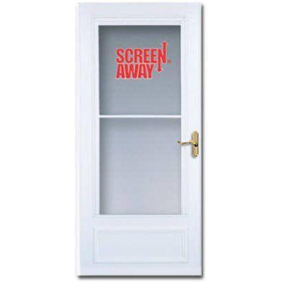 Larson Screen Away Storm Door Retractable Screen White Solid