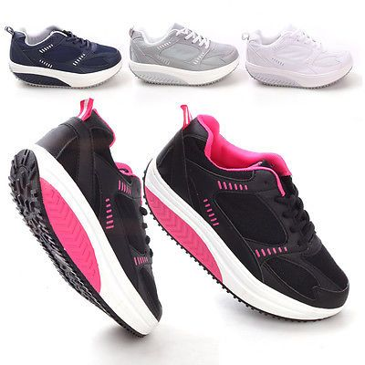 NEW Womens Shoes Slimming Fitness Tear Sneaker Sports