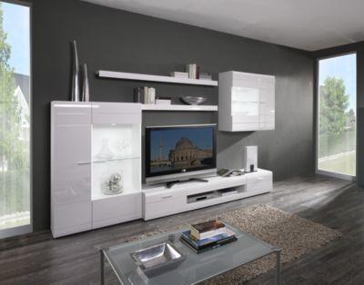 Wohnwand in weiss hochglanz Jetzt bestellen unter    moebel - wohnzimmer weiß hochglanz