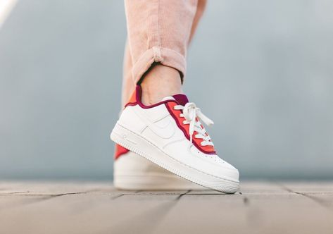 Buy Nike Air Force 1'07 Low White Red Blue Trainers AO2441 006