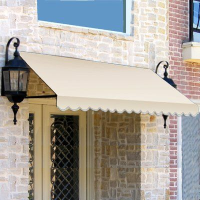 Awntech Dallas Retro Woven Acrylic Standard Window Awning Wayfair In 2020 Window Awnings Awning Over Door Metal Awning