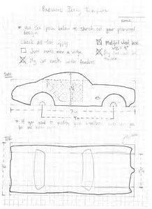 Pinewood Derby Free Templates Car Cutting Template