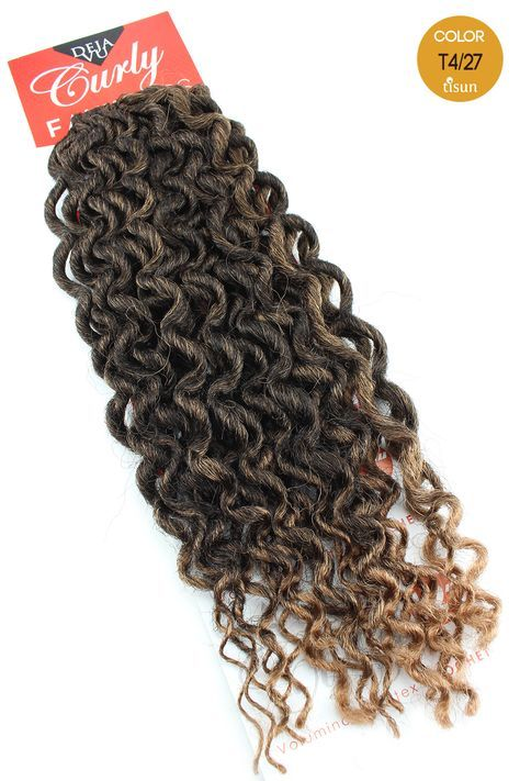 Deja Vu Curly Faux Locs Crochet Braiding Hair Color T4 27 Tipped