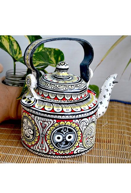 Vipakka hand painted Kettle home decor pattachitra art in
