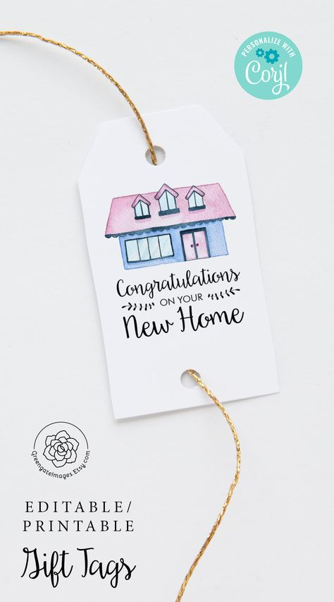 #housewarming #housewarmingideas #newhome #newhouse #congratulations #happyhousewarming #realtorsupplies #realestate #gifttag #printablegifttag #hangtag #multipurposetag #nametag #corjl #editable #personalized #custom #favorbagtag #favortag #instantdownload #partyprintables