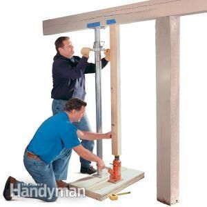 How to Repair a Load-Bearing Post ...we have a sagging floor in the living room...guess we'll be checking this out!!