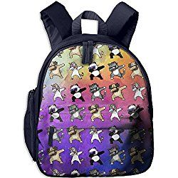 cb0c6756e28a Pug Backpack Dabbing Unicorn Cat Pug Panda Funny Oxford School Bag ...