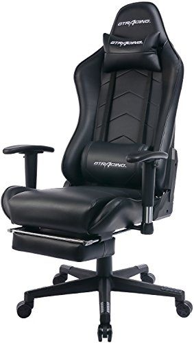 Gtracing Gaming Chair Heavy Duty Office Chair With Footrest E Sports Chair For Pro Gamer Ergonomic S Gaming Chair Ergonomic Office Chair Lumbar Support Cushion