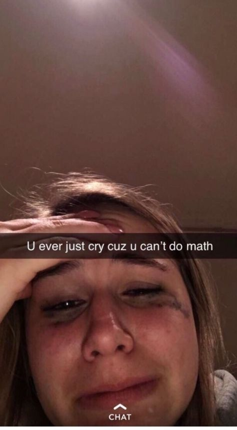 I stayed up until 1:30am in fourth grade doing math and literally had a lil bitch mental breakdown