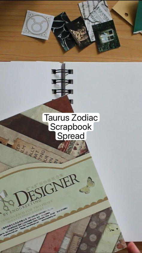 Taurus Zodiac Scrapbook Spread
