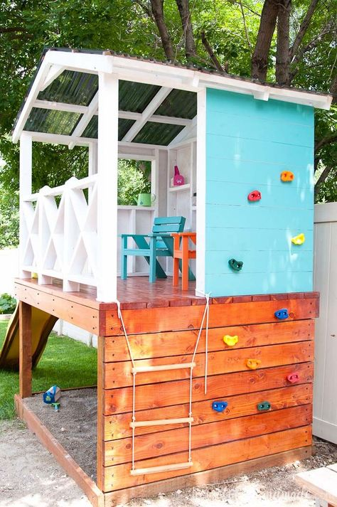 the yard is small, we are utilizing every inch of space by turning the wal. Since the yard is small, we are utilizing every inch of space by turning the wal.Since the yard is small, we are utilizing every inch of space by turning the wal. Backyard For Kids, Backyard Projects, Outdoor Projects, Backyard Play Areas, Kids Yard, Play Yard, Backyard Playhouse, Build A Playhouse, Outdoor Playhouse For Kids