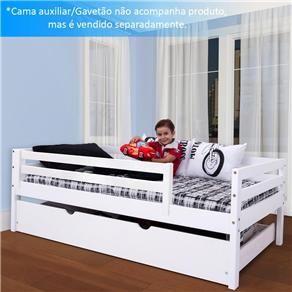 Bicama Infantil Prime Com Grade De Protecao Madeira Macica Cama