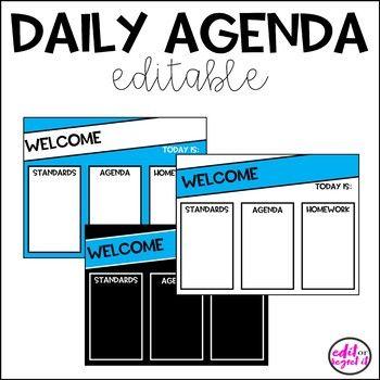 Daily Agenda Template Daily Agenda Agenda Template Classroom Agenda
