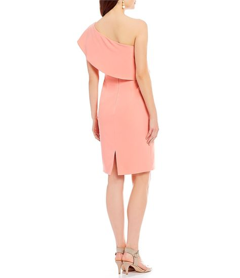 b4e4dc1dd58 Rachel Zoe Karly Elbow-Sleeve Side-Cutout Crepe Ruffle Dress