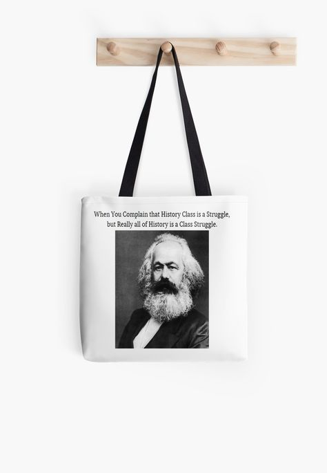 'Funny History Class Karl Marx Meme' Tote Bag by lordoftime39