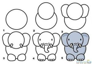 Image Result For Step By Step Doodles Elephant Drawing Easy