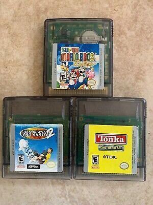 Super Mario Bros Deluxe Tony Hawk Pro Skater 2 Tonka Cs Gameboy Color Lot Sports Pokemon Firered Pokemon Trading Card Mario Bros