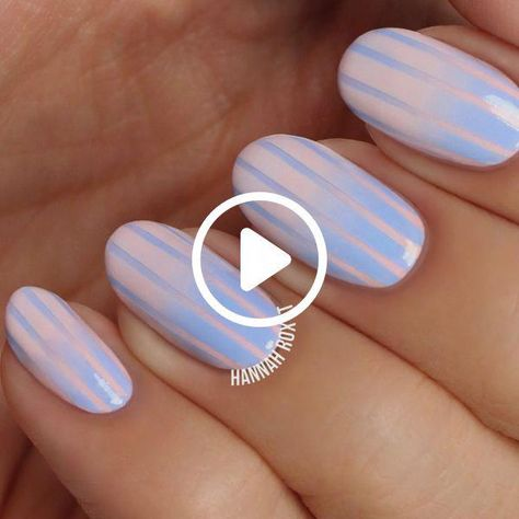 How to Get Cotton Candy Nails #nailart #naildiy #naildesign #nailtutorial #nailtutorials