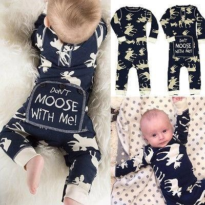 Boubalaa Onsie Baby Boy Clothes Newborn Baby Boy Romper Xmas Outfits