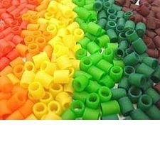 DIY colored pasta beeds for crafts--think wagon wheels, penne, macaroni