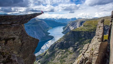 Troll's Tongue, Fjord Norway: Is this the sickest view on the planet?