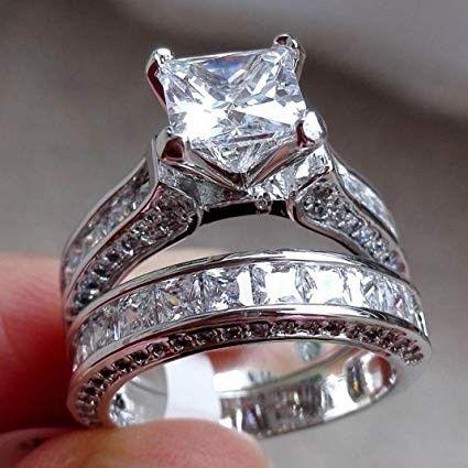 2ct Trilliant Cut Diamond 14k White Gold FN  Engagement  Rings For Women/'s