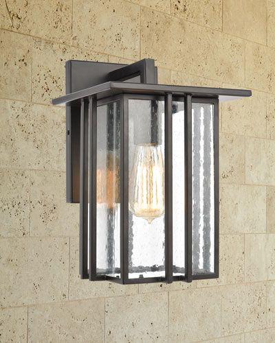 8dmb Radnor 1 Light Outdoor Sconce In Matte Black With Seedy Glass Radnor 1 Light Outdoor Sconce In Matte Blac In 2021 Outdoor Sconces Exterior Light Fixtures Sconces