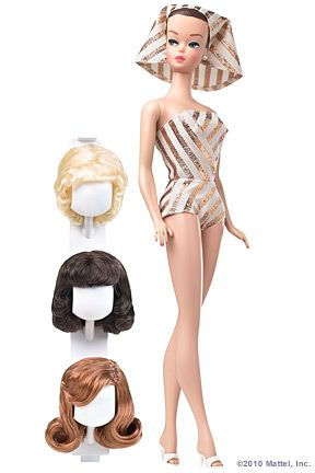 You could change the hair on this Barbie.  My favorite was the blonde one.
