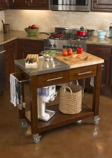 Trendy Kitchen Island On Wheels Butcher Blocks 62 Ideas Kitchen Island On Wheels Modern Kitchen Island Replacing Kitchen Countertops