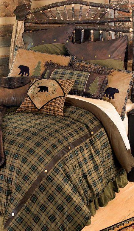 Rustic Bedding Sets Log Cabin, Mountain Lodge Bedding
