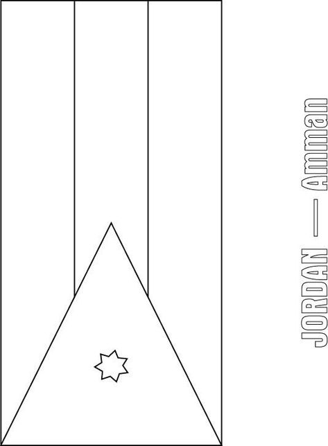 World Flags Coloring Pages Jordan Flag Coloring Page Flag Coloring Pages Cool Coloring Pages Super Coloring Pages